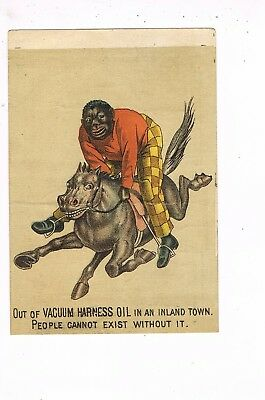 VICTORIAN ADVERTISING / TRADE Card        VACUUM HARNESS OIL