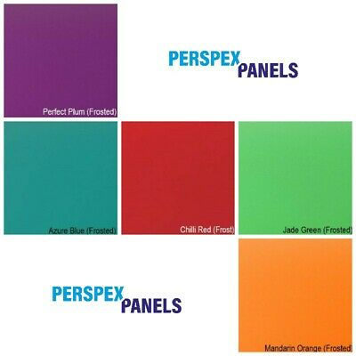 Acrylic Panels, 3mm, Cut to Size Sheets, Perspex, 11 Frosted Opaque Colours