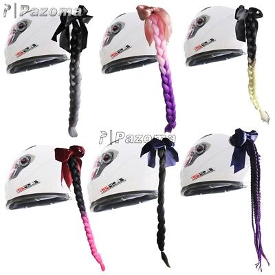 Gradient Ramp Helmet Braids / Ponytail Helmet Hair Pigtails For Motorcycle Bike
