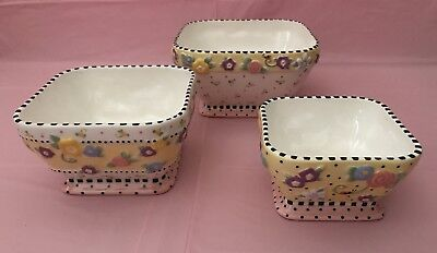 Mary Engelbreit MEADOW Nesting Bowls Set of 3