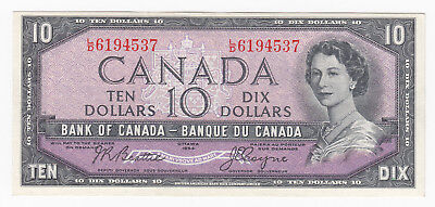 1954 Bank of Canada $10 - Nice and Fresh with Bright Colour #L/D6194537