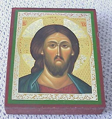 Russian Christian Orthodox Icon Holy Jesus Christ Pantocrator Amulet Cross Gold