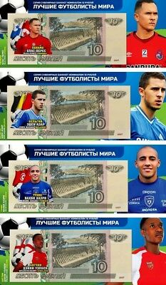 Set of 4 banknotes 2018 FIFA World Cup-Russia 10 ruble Group G -UNC!