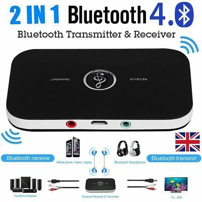 2in1 Wireless Bluetooth Audio Transmitter Receiver HIFI Music Adapter AUX RCA KT