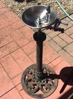 Vintage Cast Iron Stainless Water Drinking Fountain Project, Not Finished
