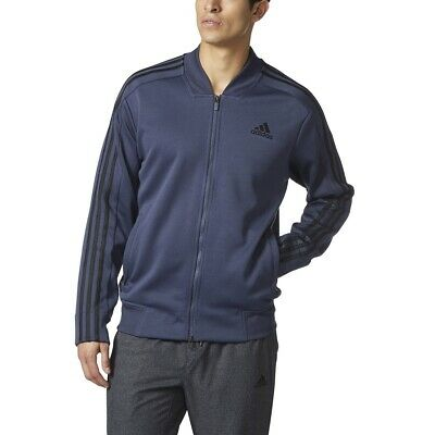 [BR3278] Mens Adidas Athletics Squad ID Track Bomber Jacket - Trace Blue