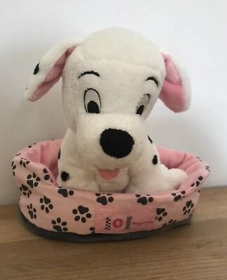 Disney 101 Dalmatians Plush Soft Toy With Bed