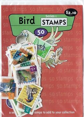 Thematic stamps Packet of 100 bird stamps
