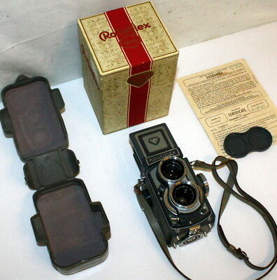 Vintage Rolleiflex 4x4 Baby Gray TLR Film Camera w/ Case & Box FREE SHIP USA