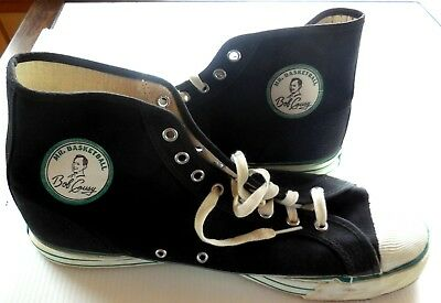 RARE1950s Mr Basketball BOB COUSY Hi-Top Canvas Shoes Sneakers Mens SIZE 11 Asis