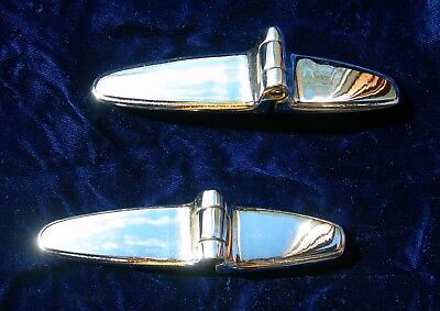 1933 Chevy Hinges, 1934 Chevy Trunk Hinges, Chrome Trunk Hinges, GM Trunk Hinges