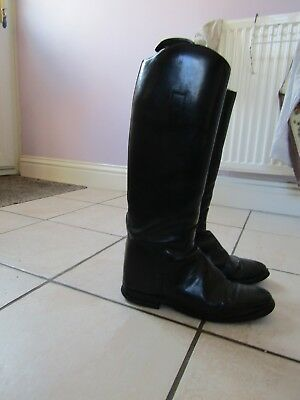 Long English Leather Riding Boots Size 7