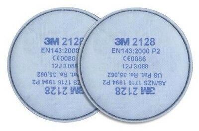 1 Pair 3M-2128-P2 FILTERS VAPOUR DUST PREMIUM WELDING ONE Pair 3M 2128