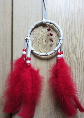 "White Red Dream Catcher 3"" Boho Dreamcatcher Native American Dream Catcher #25"