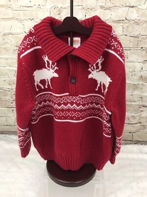 c80a96bb9 GYMBOREE BELLES AND BOWTIES Moose Holiday Christmas Sweater 12-18M ...