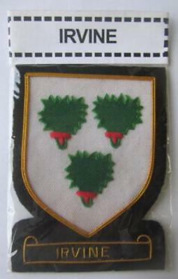 Irvine Scottish Clan Name Badge Gold Silver Bullion New Hand Embroidered Cp Made