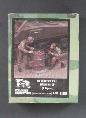 Verlinden 1/35 US Tankers WWII Warming Up! (2 Figures) [Resin] Item No. 1105