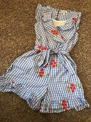 Monteau Girls Summer Romper Size Small Size 10/12
