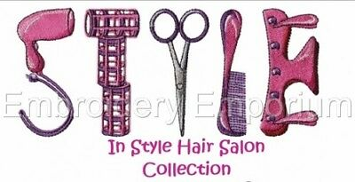 In Style Hair Salon - Machine Embroidery Designs On Cd