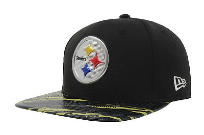 best website ba5bc 2f106 NEW ERA 9Fifty NFL Pittsburgh Steelers Color Rush 2016 Snapback Cap Men Hat