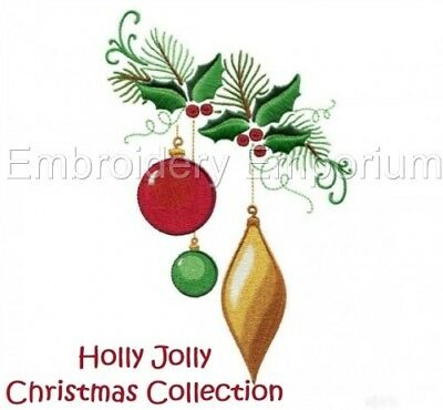 Holly Jolly Christmas Collection - Machine Embroidery Designs On Cd
