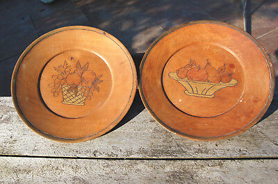 ANTIQUE PLATE WALL Wooden pattern fruits
