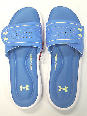huge discount 50689 0bf9d Under Armour Women s Ignite VIII Slide Sandal   Flip-Flops Color Blue White