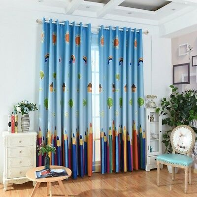 "Window Curtains Colorful Pattern Living Room Pastoral Curtains 39.67""*98.43"""