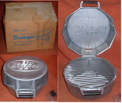 Nos Vintage Dr. Pepper Cast Aluminum Charcoal Grill - Made In Carrollton Texas