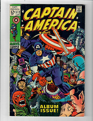 """CAPTAIN AMERICA #112 - Grade 7.0 - """"Lest We Forget"""" Jack Kirby!"""