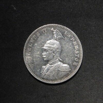 1891 German East Africa Silver 1/2 Rupie- RARE COIN!