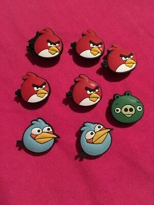 8 Angry Birds Shoe Charms for Crocs Jibbitz Wristbands