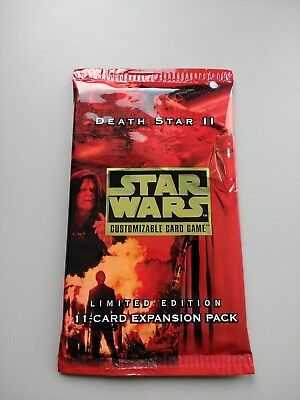 1 NEW Star Wars CCG Death Star II Limited Edition Booster Pack: SEALED MINT