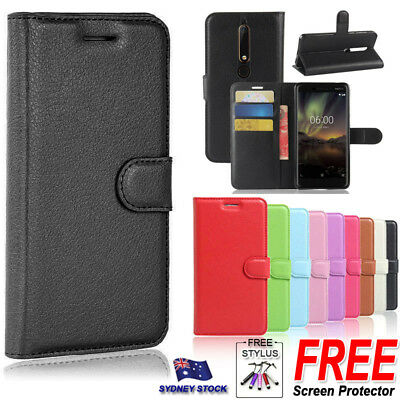 For Nokia 7 Plus 2018 Premium PU Leather Wallet Flip Phone Protective Case Cover