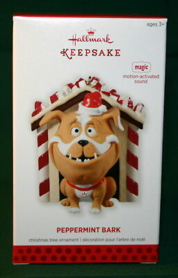 Hallmark Ornament 2013 Peppermint Bark  Magic Motion Activated Sound.