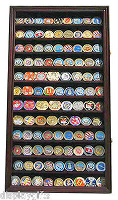 Military Challenge Coin Casino Poker Chip Display Case Wall Cabinet  Coin2-MA