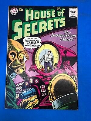 "House of Secrets #35 DC, 1960 ""The Interplanetary Target"" SILVER $0.10"
