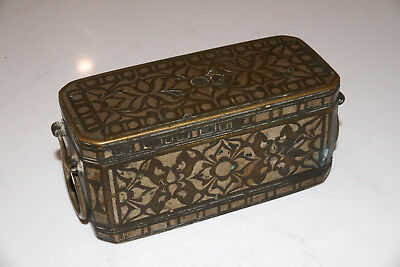 Antique Bronze and Silver Betel Nut Box
