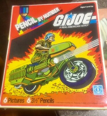 1982 GI Joe R.A.M. pencil by number still in the shrink wrap