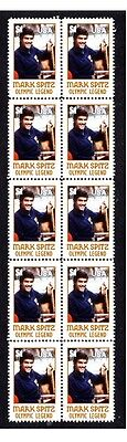Mark Spitz Olympic Legend Strip Of 10 Mint Stamps 1