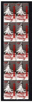 Peggy Fleming Figure Skating Strip Of 10 Mint Stamps 1
