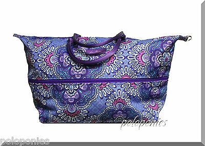 VERA BRADLEY Lighten Up Expandable Travel Bag - Lilac Tapestry NWT