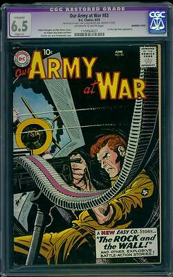 Our Army At War 83 CGC 6.5 (R) OW/W Silver Age Key DC Comic 1st Sgt. Rock L@@K
