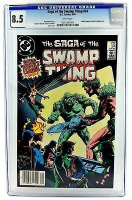The Saga Of Swamp Thing #24 Cgc 8.5 1984 Dc Justice League Alan Moore