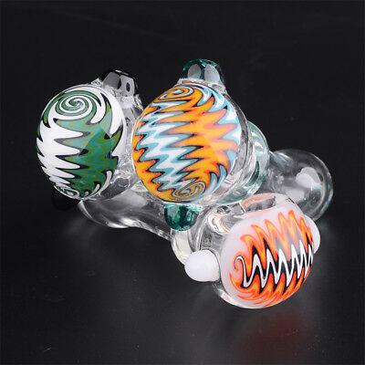L=4in GLASS PIPE color changing head Spoon tobacco pipes for Smoking hand made