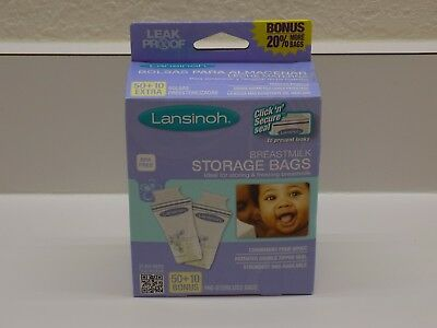 Lansinoh Breastmilk Storage Bags BPA Free 50 Count + 10