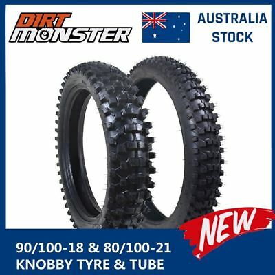 "Tyre & Tube 80/100-21 Inch Front 110/90-18"" Rear 160Cc/200Cc/250Cc Pit Dirt Bike"
