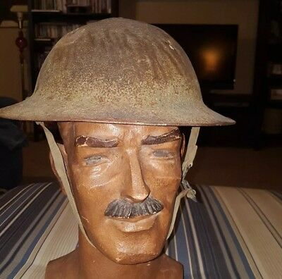 Early Wwii U.s.m.c  M1917A1 1941 Wake Island Phillipines Type Kelly Helmet.(12)