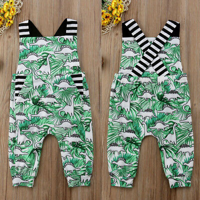 AU STOCK Kids Baby Girls Boys Dinosaur Romper Jumpsuit Trousers Outfits Clothes