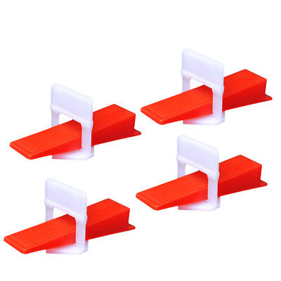 1mm Gap - 100 Wedges+500 Clips Tile Leveling System Wall Flooring Spacer Device